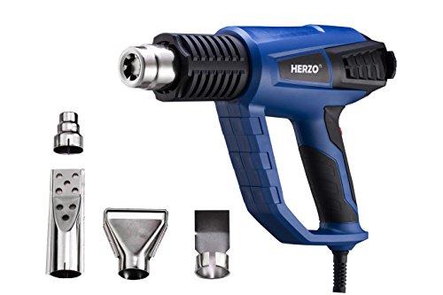 HERZO-Dcapeur-Thermique-Pistolet–Air-Chaud-2000W-avec-3-Modes-de-Temprature-50-500-600-avec-4-Buses-0