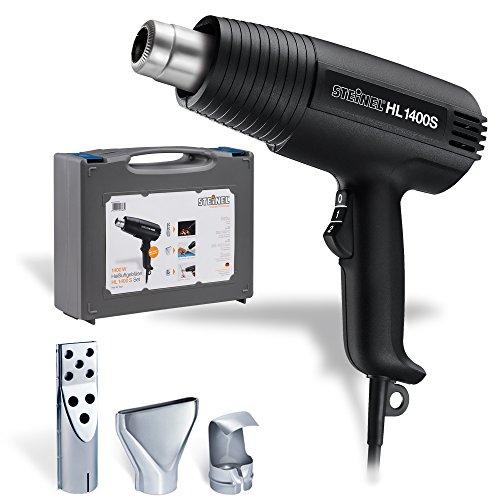 Steinel-dcapeur-thermique-HL-1400-S-avec-mallette-et-3-buses-pistolet–air-chaud-avec-1400-W-300500-C-240450-lmin-idal-pour-le-schage-allumer-le-barbecue-et-nettoyez-la-grille-0