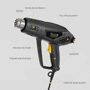 Dcapeur-Thermique-TECCPO-2000W-Pistolet--Air-Chaud-240V-3-Tempratures-50-550-Vitesse-du-Vent-500Lmin-1-Min-Fonction-innovante-de-refroidissement-7-Accessoires-en-Mtal-TAHG01P-0-0