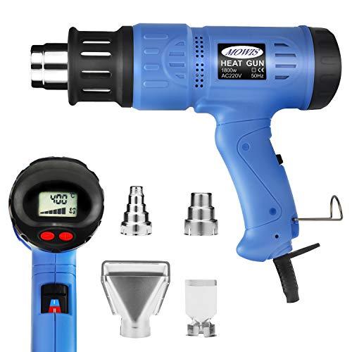 Dcapeur-Thermique-MOWIS-1800W-Pistolet–air-chaud-avec-cran-LCD–temprature-rglableI100-300-190-210LminII100-600-250-500Lmin-avec-4-Buses-Fournies-et-protection-contre-surchauffe-0