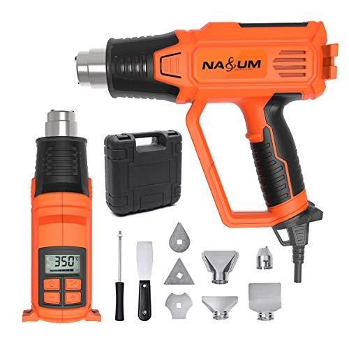 Pistolet–Air-Chaud-NASUM-Dcapeur-Souffleur-Thermique-avec-cran-LCD-JS-RFA0818A-220-240V-5060Hz-2000W-50-600-Vitesse-de-Vent-180-280Lmin-9-Accessoires-incluant-Buses-avec-Valise-de-Transport-0