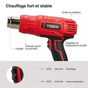 Dcapeur-Thermique-TEENO-2000W-Pistolet--Air-Chaud2-Tempratures-350600-Vitesse-du-Vent-300-500Lmin-4-Accessoires-en-Mtal-0-0
