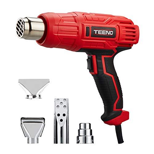 Dcapeur-Thermique-TEENO-2000W-Pistolet–Air-Chaud2-Tempratures-350600-Vitesse-du-Vent-300-500Lmin-4-Accessoires-en-Mtal-0