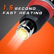 Dcapeur-thermique-AREWTEC-2000W-Pistolet--Air-Chaud-Portable-Temprature-Rglable-Entre-80C-et-600C-Chauffage-Rapide-en-Quelques-Secondes-Puissance-leve-Avec-9-Fixations-Rouge-0-0