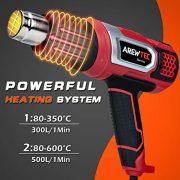 Dcapeur-thermique-AREWTEC-2000W-Pistolet--Air-Chaud-Portable-Temprature-Rglable-Entre-80C-et-600C-Chauffage-Rapide-en-Quelques-Secondes-Puissance-leve-Avec-9-Fixations-Rouge-0-1