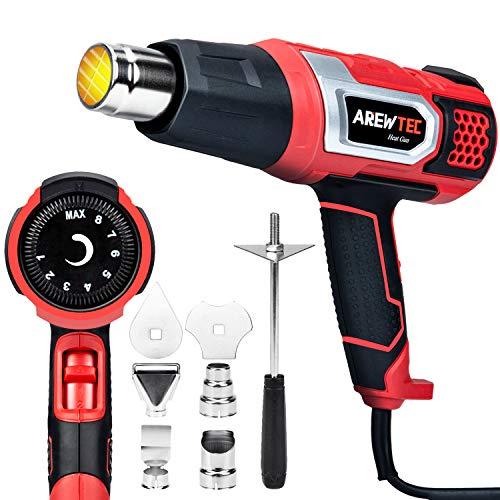 Dcapeur-thermique-AREWTEC-2000W-Pistolet–Air-Chaud-Portable-Temprature-Rglable-Entre-80C-et-600C-Chauffage-Rapide-en-Quelques-Secondes-Puissance-leve-Avec-9-Fixations-Rouge-0