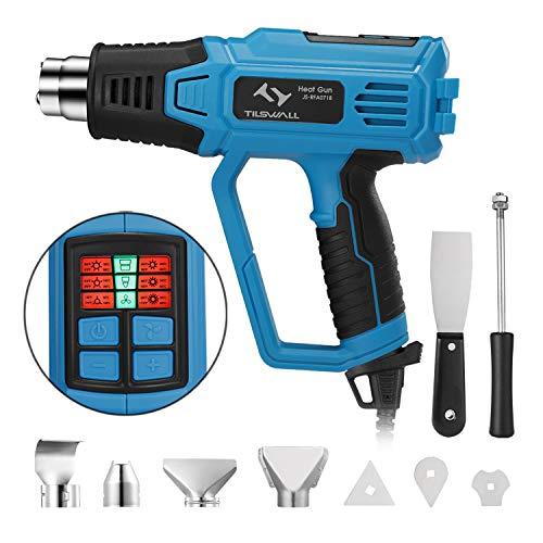 Pistolet–Air-Chaud-Tilswall-2000W-Decapeur-Thermique-avec-12-Tempratures-Rglables50-600Noyau-Chauffage-en-CramiqueLED-Indicateur-9-Accessoires-pour-Dcapage-de-PeintureTuyaux-de-Soudure-0