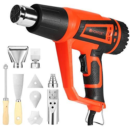 V-VONTOX-Dcapeur-Thermique-Pistolet–Air-Chaud-avec-9-Accessoires-2-Modes-de-Temprature-300–600–Dcapeur-pour-Dcaper-la-Peinture-Rtrcir-le-PVC-Souder-les-Tuyaux-0